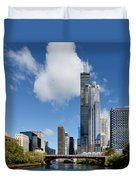 Willis Tower And 311 South Wacker Drive Chicago Duvet Cover by Christine Till