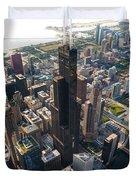 Willis Tower Chicago Aloft Duvet Cover by Steve Gadomski