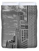 Willoughby Tower And 6 N Michigan Avenue Chicago  Duvet Cover by Christine Till