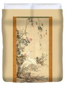 Willow And Herons Duvet Cover