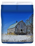 Willow Barn Painting Duvet Cover