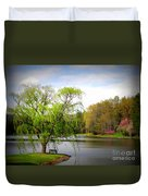 Willow Lake Duvet Cover by Crystal Joy Photography