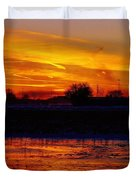 Willow Rd Sunset 2.27.2014 Duvet Cover