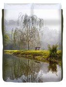 Willow Tree At The Pond Duvet Cover