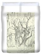 Willows By The Lake Duvet Cover