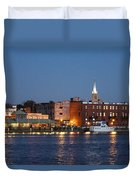 Wilmington At Night Duvet Cover