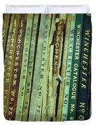 Winchester Catalogs Duvet Cover
