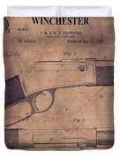Winchester Rifle Patent Duvet Cover