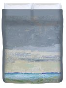 Wind And Rain On The Bay Duvet Cover