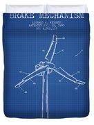 Wind Generator Break Mechanism Patent From 1990 - Blueprint Duvet Cover