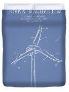 Wind Generator Break Mechanism Patent From 1990 - Light Blue Duvet Cover