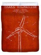 Wind Generator Break Mechanism Patent From 1990 - Red Duvet Cover