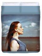 Wind In Her Hair Duvet Cover by Craig B