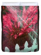 Wind In The Grass - Red Duvet Cover