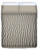 Wind Makes Patterns On The Beach Duvet Cover