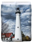 Wind Point Lighthouse Duvet Cover