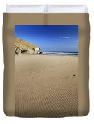 Wind Signals At The Beach Duvet Cover