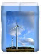 Wind Turbine Farm Duvet Cover