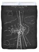Wind Turbine Patent From 1944 - Dark Duvet Cover