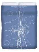 Wind Turbine Patent From 1944 - Light Blue Duvet Cover