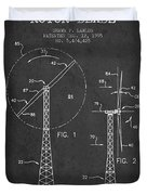 Wind Turbine Rotor Blade Patent From 1995 - Dark Duvet Cover