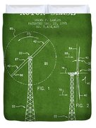Wind Turbine Rotor Blade Patent From 1995 - Green Duvet Cover