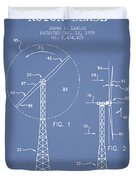 Wind Turbine Rotor Blade Patent From 1995 - Light Blue Duvet Cover