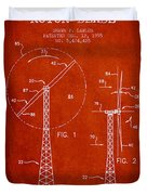 Wind Turbine Rotor Blade Patent From 1995 - Red Duvet Cover