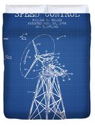 Wind Turbine Speed Control Patent From 1994 - Blueprint Duvet Cover