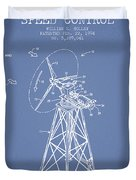Wind Turbine Speed Control Patent From 1994 - Light Blue Duvet Cover