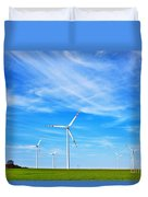 Wind Turbines Farm Duvet Cover