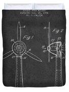 Wind Turbines Patent From 1984 - Dark Duvet Cover