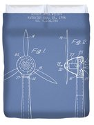 Wind Turbines Patent From 1984 - Light Blue Duvet Cover