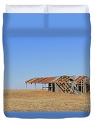 Windblown Barn Duvet Cover