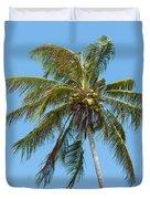 Windblown Coconut Palm Duvet Cover