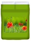 Windblown Poppies Duvet Cover