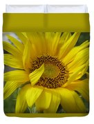 Windblown Sunflower Three Duvet Cover