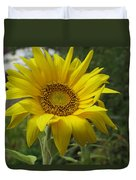 Windblown Sunflower Two Duvet Cover