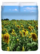 Windblown Sunflowers Duvet Cover