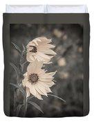 Windblown Wild Sunflowers Duvet Cover