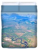 Winding River From The Seaplane In Katmai National Preserve-alaska Duvet Cover
