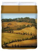 Winding Road And Cypress Trees In Tuscany 1 Duvet Cover