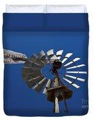Windmill Aermotor Company Duvet Cover