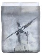 Windmill At Damme In Belgium Countryside Duvet Cover