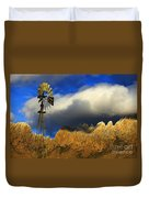 Windmill At The Organ Mountains New Mexico Duvet Cover by Bob Christopher