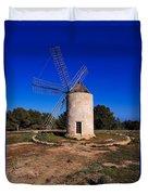 Windmill In El Pilar De La Mola On Formentera Duvet Cover