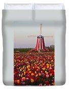 Windmill Of Flowers Duvet Cover