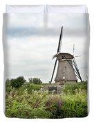 Windmill Of Kinderdijk Duvet Cover