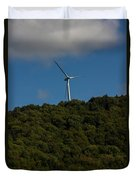 Windmill On A Mountain Duvet Cover