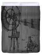 Windmill Patent Barn Wall Duvet Cover